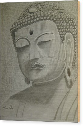 Buddha Wood Print by Irving Starr