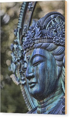 Buddha Wood Print by Karen Walzer