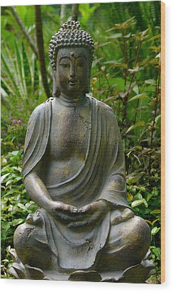 Wood Print featuring the photograph Buddha by Keith Hawley