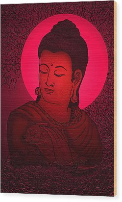 Buddha  Wood Print by Loganathan E
