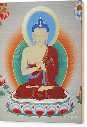 Buddha Maitreya Wood Print