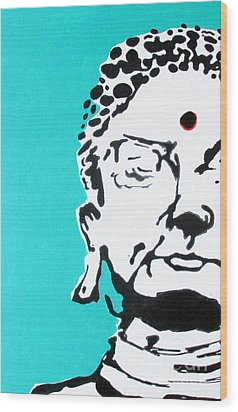 Wood Print featuring the painting Buddha by Nicole Gaitan