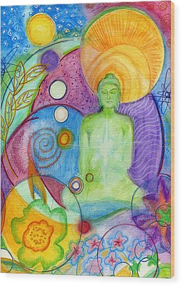 Buddha Of Infinite Possibilities Wood Print