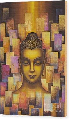 Buddha. Rainbow Body Wood Print by Yuliya Glavnaya