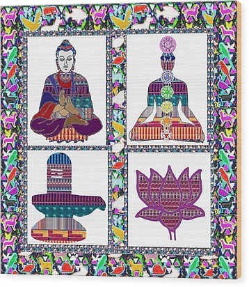 Buddha Yoga Chakra Lotus Shivalinga Meditation Navin Joshi Rights Managed Images Graphic Design Is A Wood Print