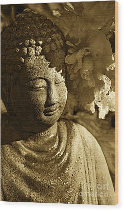 Wood Print featuring the photograph Buddha's Kiss by Catherine Fenner