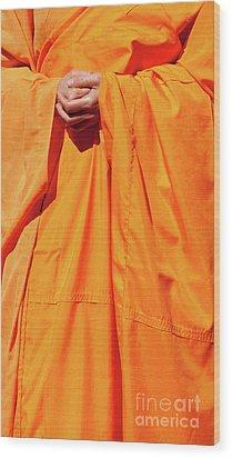 Buddhist Monk 02 Wood Print