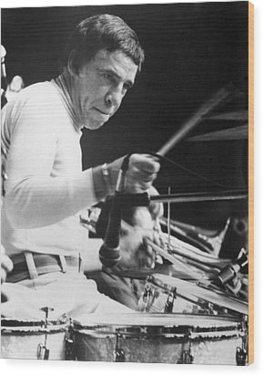 Buddy Rich Wood Print by Silver Screen