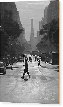 Buenos Aires Obelisk II Wood Print