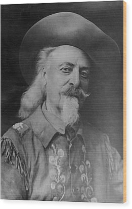 Wood Print featuring the photograph Buffalo Bill Cody by Charles Beeler