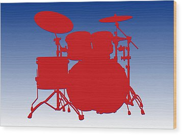 Buffalo Bills Drum Set Wood Print by Joe Hamilton