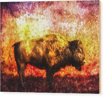 Buffalo Wood Print by Bob Orsillo