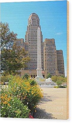Buffalo City Hall Wood Print by Charline Xia