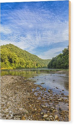 Buffalo River Details Wood Print by Bill Tiepelman