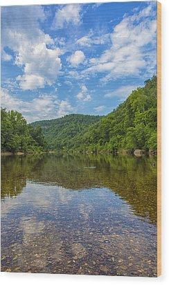 Buffalo River Majesty Wood Print by Bill Tiepelman