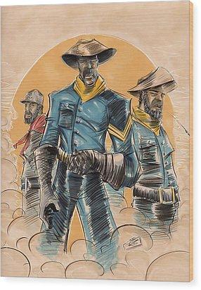 Buffalo Soldiers Wood Print by Tu-Kwon Thomas