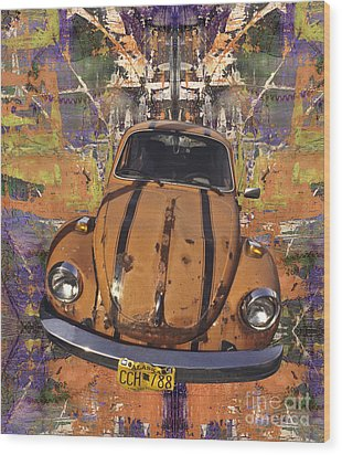 Bug Love Wood Print by Bruce Stanfield