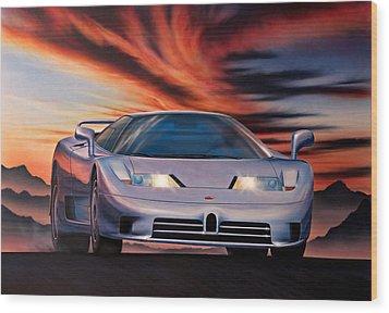 Bugatti Wood Print by Garry Walton