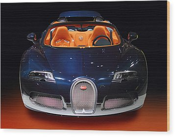 Bugatti Luxury Sport Car Wood Print