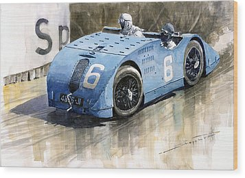Bugatti Type 32 Tank 1923 French Gp  Wood Print by Yuriy  Shevchuk
