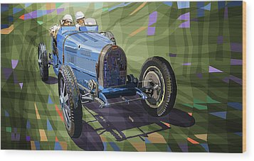 Bugatti Type 35 Wood Print by Yuriy Shevchuk