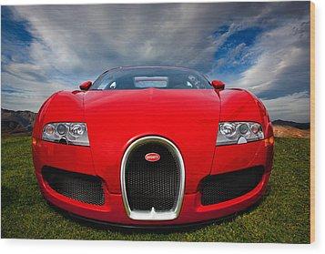 Bugatti Veyron Wood Print by Peter Tellone