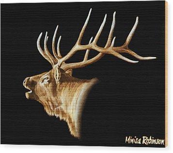 Bugle Wood Print by Minisa Robinson