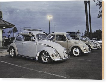 Bugs Night Out Wood Print by Rob Weisenbaugh