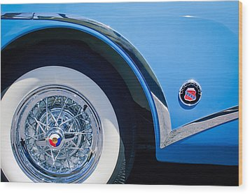 Buick Skylard Wheel Emblem Wood Print by Jill Reger