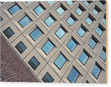 Building Of Windows Wood Print