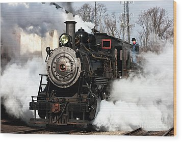 Building Steam Wood Print by John Rizzuto