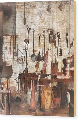 Building Trades - Hand Tools In Machine Shop Wood Print by Susan Savad