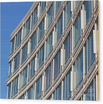 Building With Windows Wood Print by Cynthia Snyder
