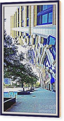 Buildings In Flux Wood Print by Scott Dixon