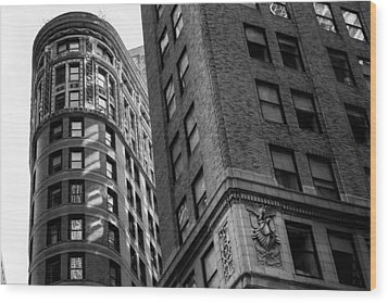 Buildings In New York Wood Print