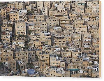 Buildings In The City Of Amman Jordan Wood Print by Robert Preston