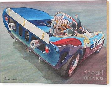 Built To Race Wood Print by Robert Hooper