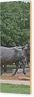Bull Market Quadriptych 2 Of 4 Wood Print by Christine Till