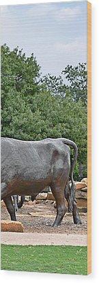 Bull Market Quadriptych 4 Of 4 Wood Print by Christine Till
