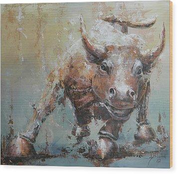Bull Market Y Wood Print
