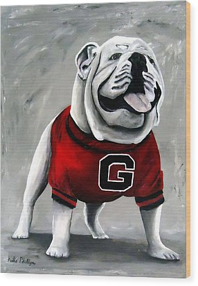 Uga Bullog Damn Good Dawg Wood Print