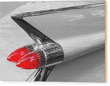 Bullet Tail Lights Wood Print by Jim Hughes