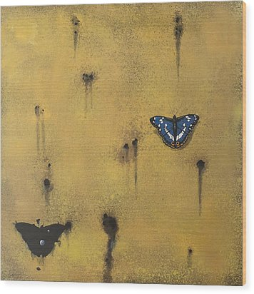 Bullets And Butterflys Wood Print