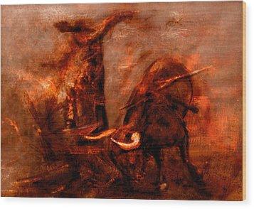 Bullfight Wood Print