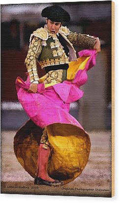 Bullfighter Dance Wood Print by Bruce Nutting