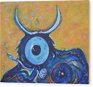 Bull's Eye Wood Print by Ion vincent DAnu