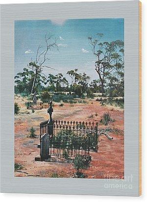 Bulong-w.a- Wood Print by Caroline Beaumont