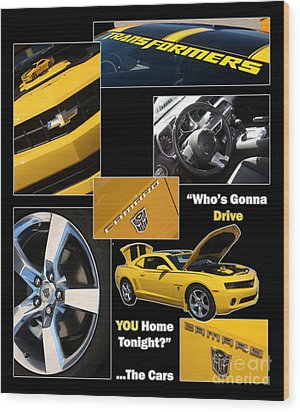 Bumble Bee-drive - Poster Wood Print by Gary Gingrich Galleries