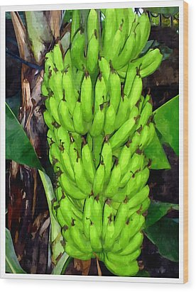 Bunch Of Bananas Wood Print by Lanjee Chee