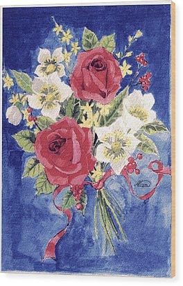 Bunch Of Flowers Wood Print by Alban Dizdari